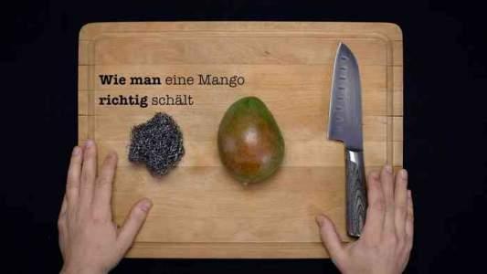 Wie man eine Mango richtig schält