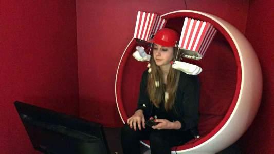 Simone Giertz's Popcorn Machine!